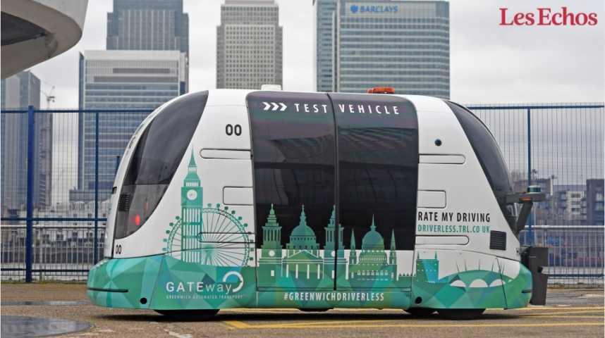 Illustration pour la vidéo Londres teste aussi la navette autonome