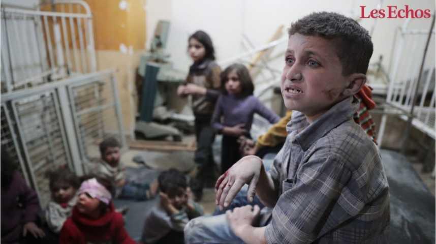 Illustration pour la vidéo Attaque en Syrie: Trump accuse Assad