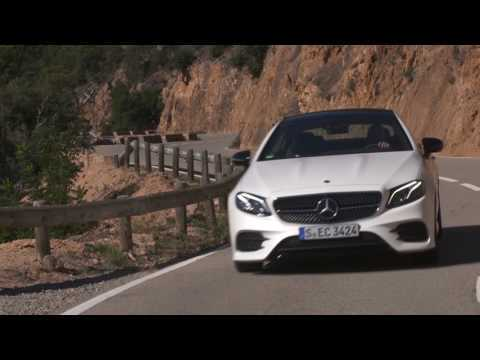 Mercedes-Benz E 400 d 4MATIC Coupe Driving Video in Cashmere White | AutoMotoTV