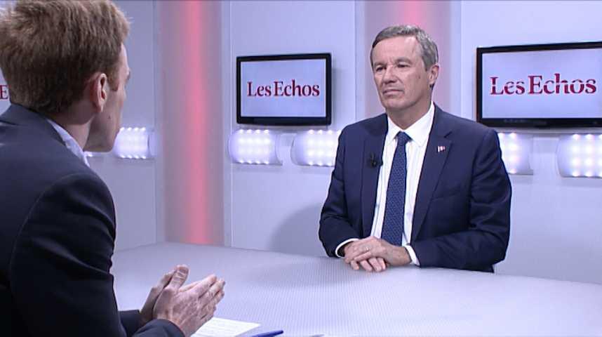 Illustration pour la vidéo «Que les Français lisent l'interview de Fillon: ils ne voteront plus pour lui» (Nicolas Dupont-Aignan)