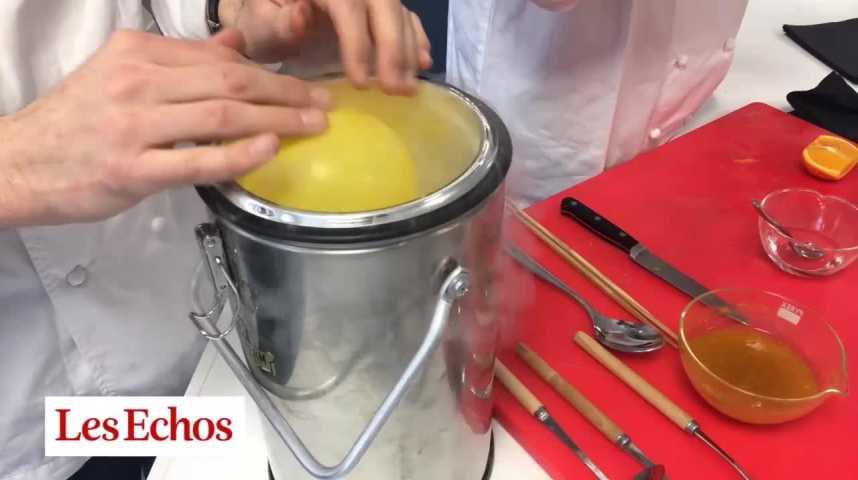 Illustration pour la vidéo Thierry Marxet Raphaël Haumontconjuguent chimie et gastronomie, pour le meilleur