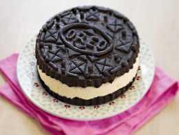 Oréo Géant gâteau chocolat vanille maison