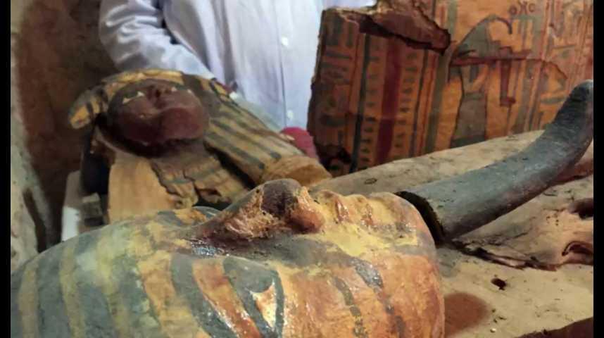 Illustration pour la vidéo En Egypte, de nouvelles découvertes de momies et de statuettes