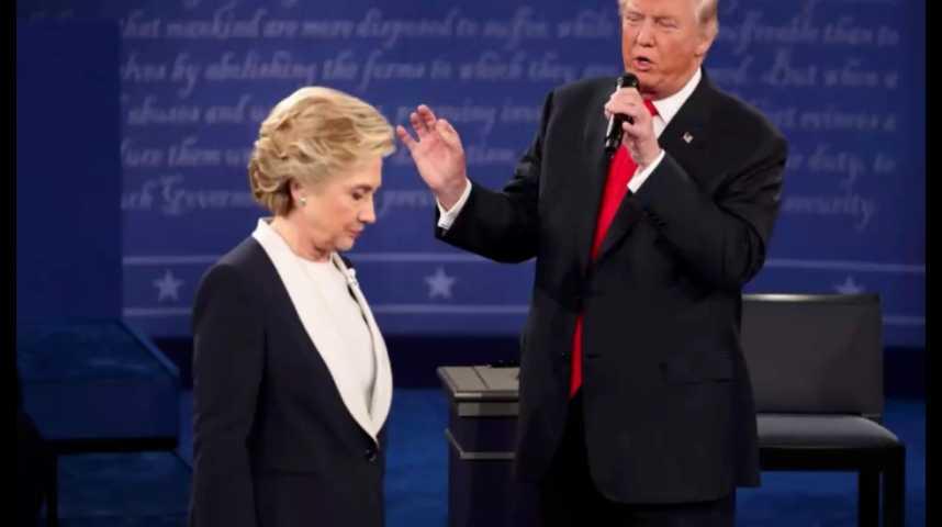 Illustration pour la vidéo Clinton vs. Trump : le 2e débat vire à l'affrontement