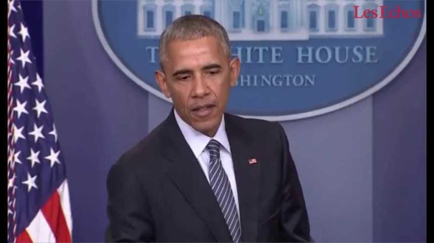 Illustration pour la vidéo Quand Barack Obama tente de rassurer sur Donald Trump : « c'est un pragmatique »