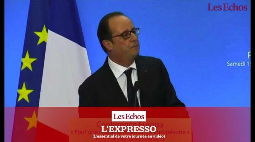 Illustration pour la vidéo Après l'élection de Trump, Hollande à la COP22 pour défendre l'accord de Paris