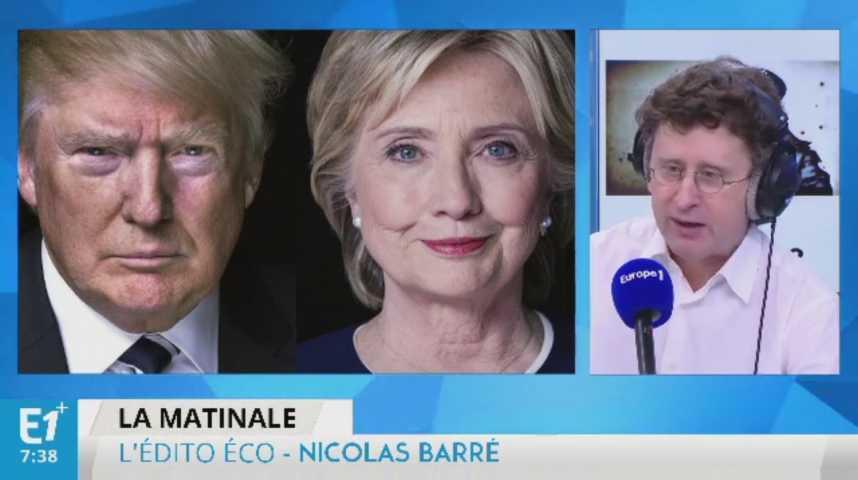 Illustration pour la vidéo Trump et Clinton se moquent des déficits