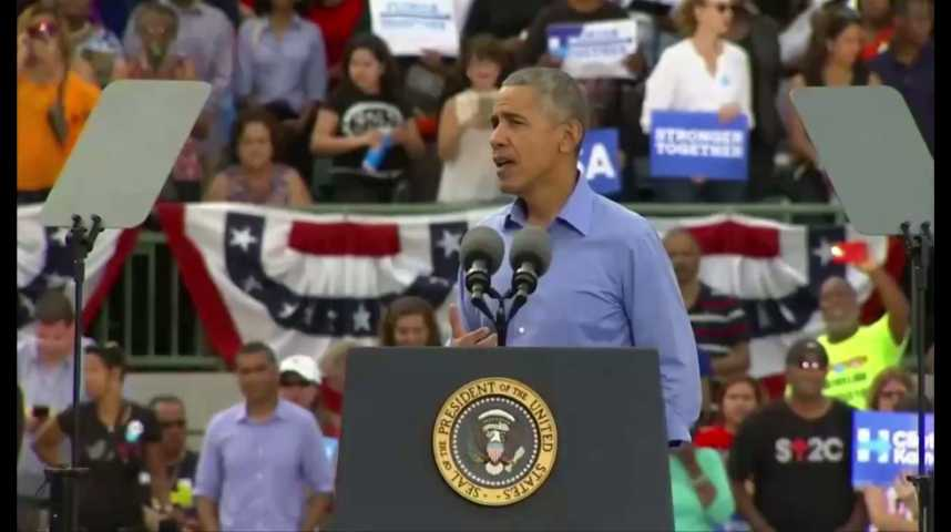 Illustration pour la vidéo Quand Barack Obama raille Donald Trump à propos de son compte Twitter