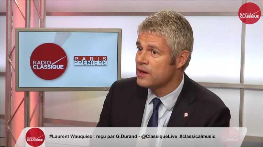 """Illustration pour la vidéo """"Il y a en France une démission de la politique"""" Laurent Wauquiez (12/10/2016)"""