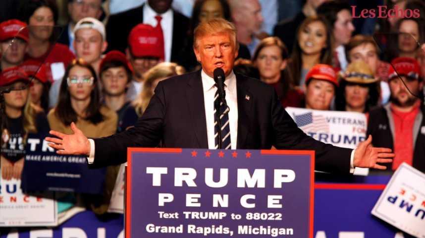 Illustration pour la vidéo Donald Trump, le nouveau visage de l'Amérique