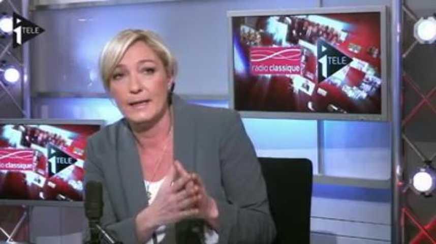 Illustration pour la vidéo Marine Le Pen était l'invitée de Guillaume Durand et Michael Darmon