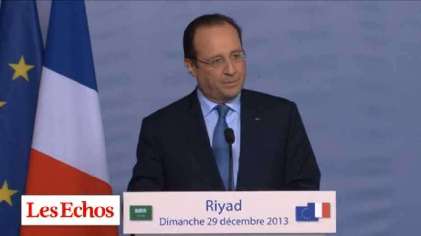 """Illustration pour la vidéo F. Hollande en Arabie Saoudite : """"Nous avons exactement la même position sur la Syrie"""""""