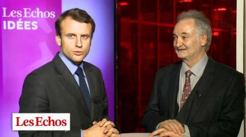 """Illustration pour la vidéo J. Attali et E. Macron choisissent """"leur fait marquant 2013"""" dans l'économie mondiale et française"""
