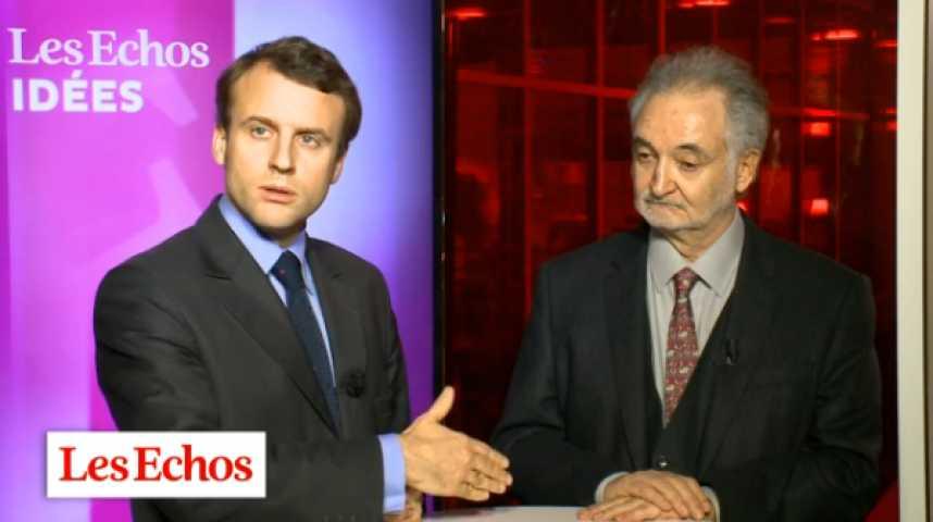 Illustration pour la vidéo J. Attali et E. Macron : des inquiétudes pour l'économie mondiale