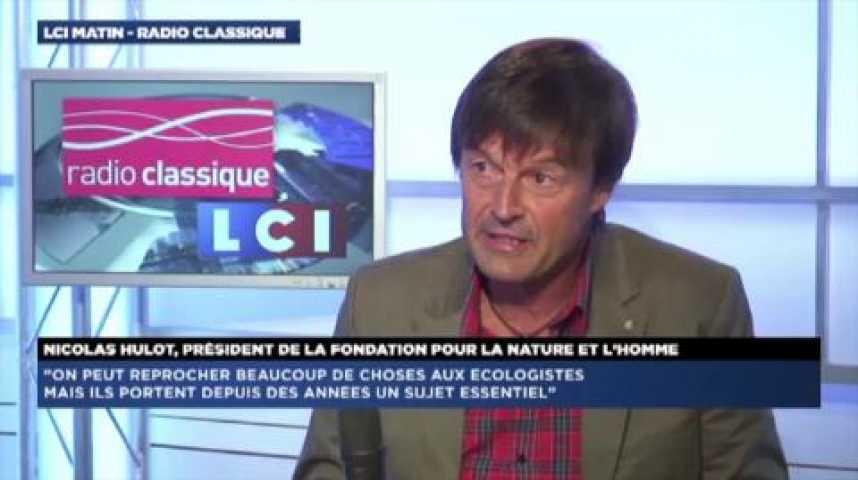 """Illustration pour la vidéo Nicolas Hulot : """"Avec EELV, c'est une greffe qui n'a pas pris"""""""