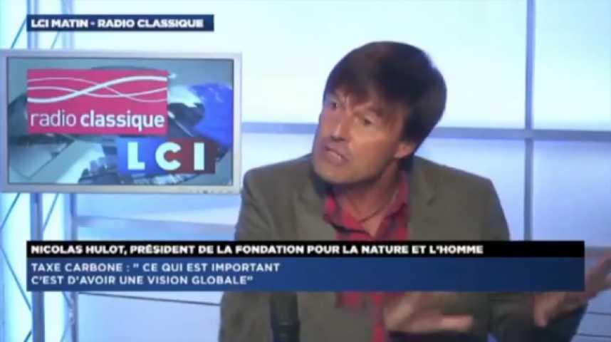 """Illustration pour la vidéo N. Hulot : """"Si le gouvernement applique à la lettre ce que F. Hollande a dit, alors là il y aura un changement de cap"""