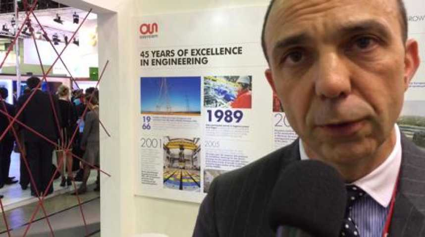 """Illustration pour la vidéo Stéphane Aubarbier, vice-président d'Assystem: """"L'essentiel de l'activité nucléaire se situe aujourd'hui à l'international"""""""