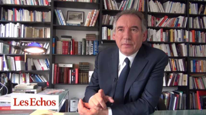 """Illustration pour la vidéo François Bayrou : """"Les propositions du FN sont suicidaires pour la France"""""""