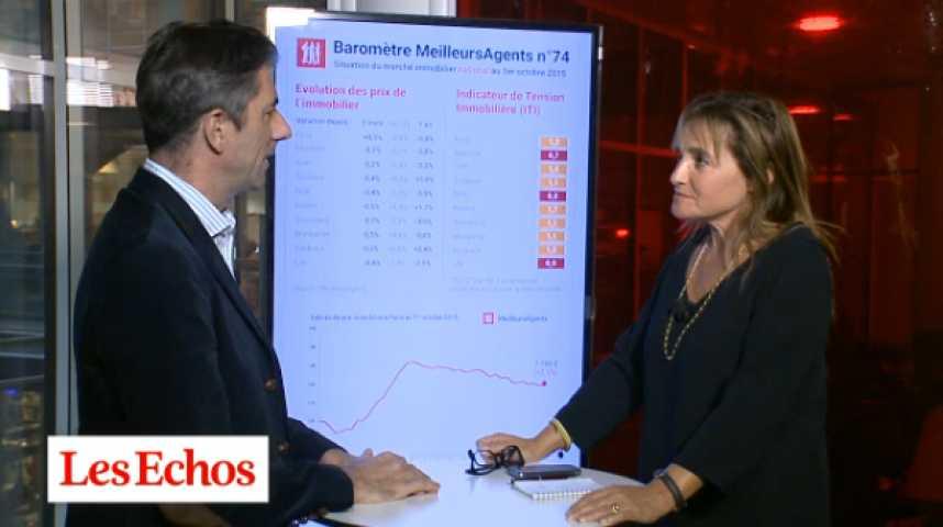 Illustration pour la vidéo Les prix de l'immobilier baissent… sauf à Paris