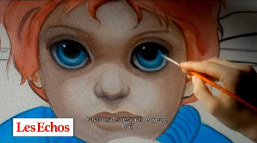 """Illustration pour la vidéo """"Big Eyes"""", ou l'histoire d'une machine à peindre et d'une machine à cash"""