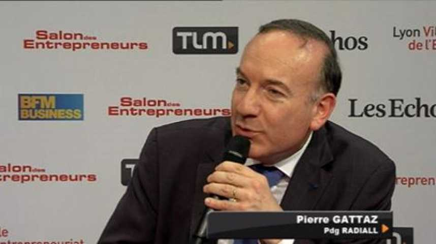 Illustration pour la vidéo Pierre GATTAZ au salon des entrepreneurs de Lyon