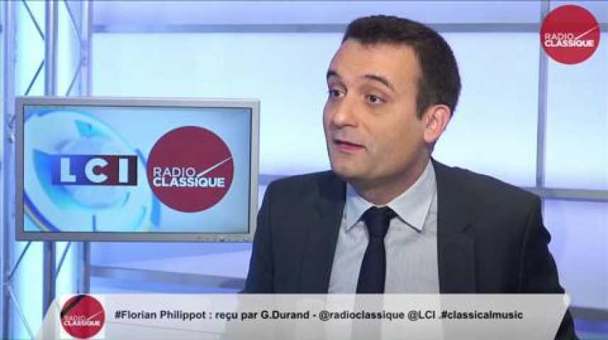 Illustration pour la vidéo Florian Philippot, « Monsieur Gattaz n'est pas là pour défendre l'entreprenariat français »