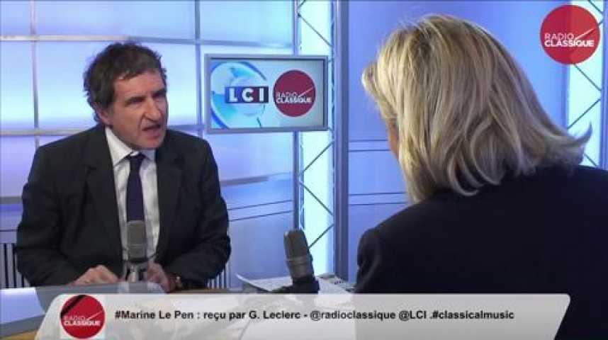 Illustration pour la vidéo Marine Le Pen,  « Arrêtons avec l'utopie folle de Schengen qui devient maintenant criminelle. »