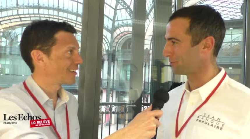 Illustration pour la vidéo La Relève : Quand Franck Gervais (Voyages SNCF) interview Armel Le Cléac'h