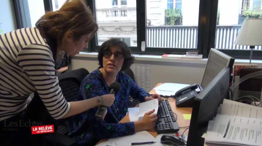 Illustration pour la vidéo La Relève : Léa Salamé interroge les journalistes d'un jour aux Echos
