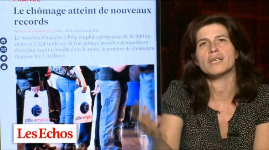 """Illustration pour la vidéo Chômage : """"Mars 2013, c'est deux records historiques"""" par Leïla de Comarmond"""