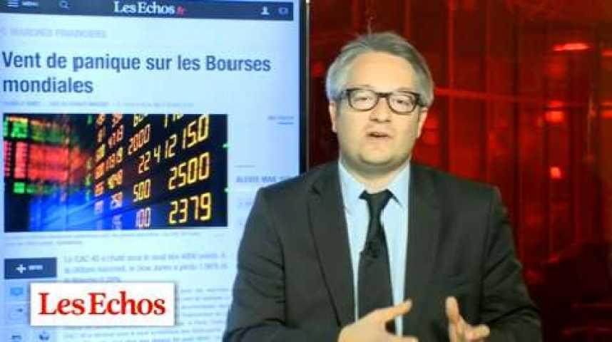 Illustration pour la vidéo Chute de la Bourse : la zone euro refait peur