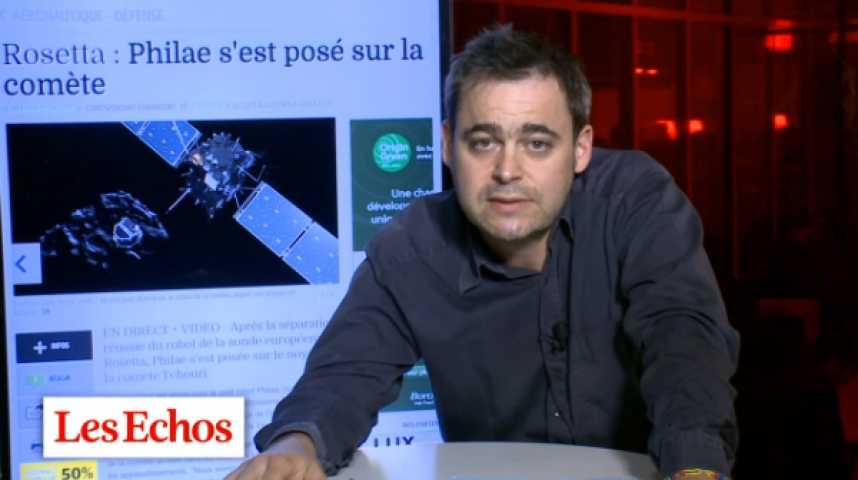 Illustration pour la vidéo Le robot Philae de Rosetta bien parti pour découvrir les origines de l'humanité