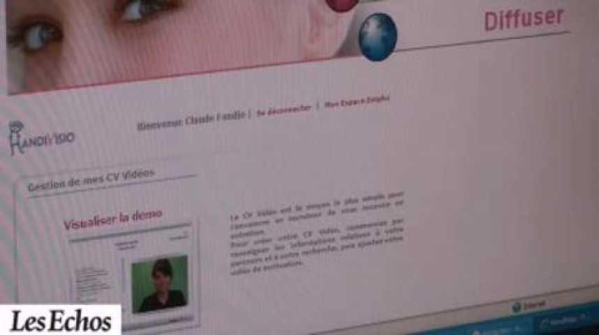 Illustration pour la vidéo Reportage : Handivisio, la vidéo au service du recrutement
