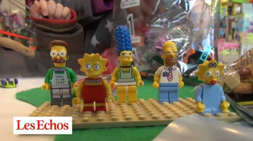 Illustration pour la vidéo Les LEGO Simpsons : jouets pour les petits, objets cultes pour les grands