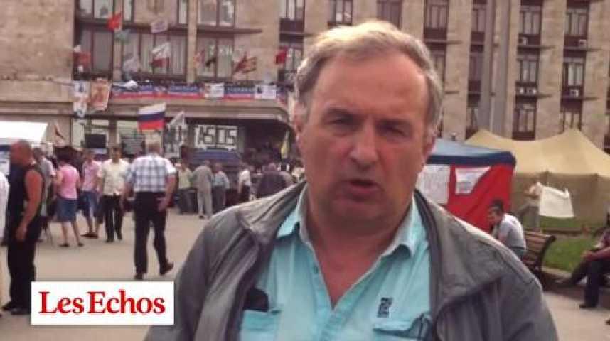 Illustration pour la vidéo Ukraine : Donetsk aura du mal à voter