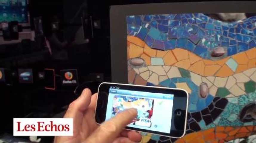 Illustration pour la vidéo Caixa : personnaliser sa CB via son smartphone