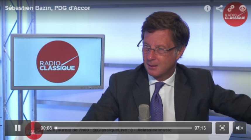 Illustration pour la vidéo Sébastien Bazin, PDG d'Accor