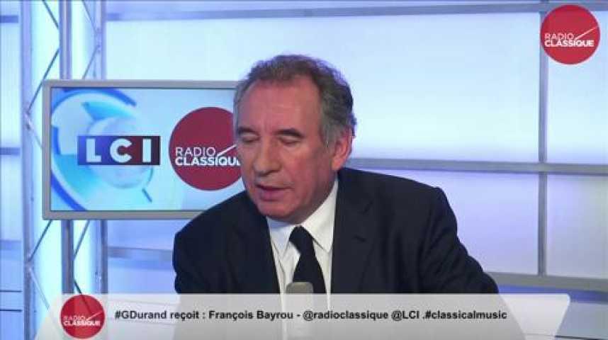 """Illustration pour la vidéo François Bayrou: """"Si Alain Juppé est choisi, je le soutiendrai."""""""