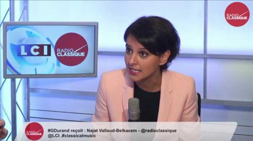 """Illustration pour la vidéo Najat Vallaud-Belkacem: """"Je porterai la Réforme du collège de toutes mes forces."""""""