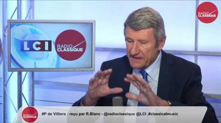 Illustration pour la vidéo Philippe de Villiers, «Demain ce seront les Français qui demanderont le droit d'asile sur le territoire français »