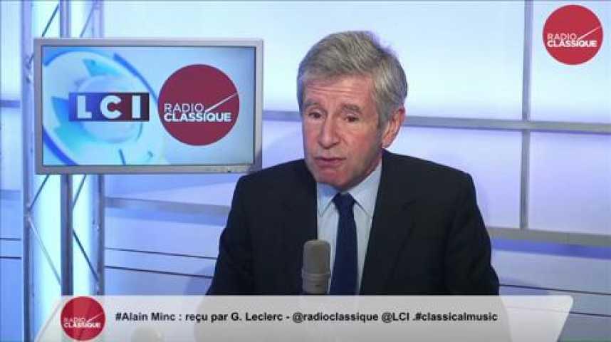 Illustration pour la vidéo Alain Minc, « Les réfugiés prennent la route de Berlin car la France ne leur donne ni boulot, ni respect. »
