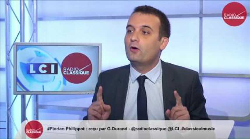 Illustration pour la vidéo Florian Philippot, « Sarkozy c'est le verbe haut et la main molle»
