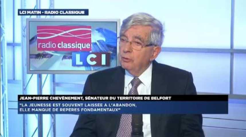 """Illustration pour la vidéo Jean-Pierre Chevènement : """"J'apporte mon soutien à la loi"""""""