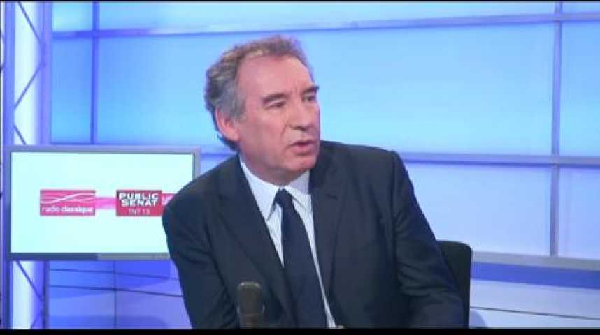 """Illustration pour la vidéo François Bayrou : """"71% des Français sont pour le référendum sur la vie politique"""""""""""