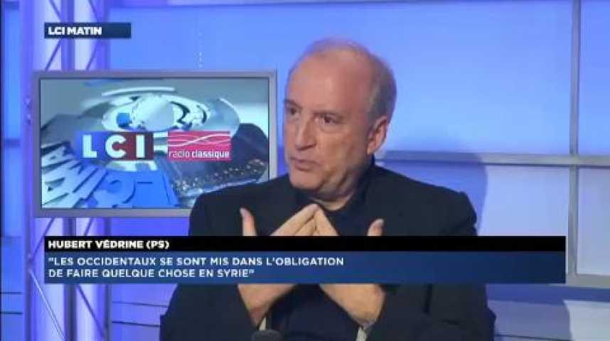 """Illustration pour la vidéo Hubert Védrine : """"Les Occidentaux se sont mis dans l'obligation de faire quelque chose en Syrie"""""""