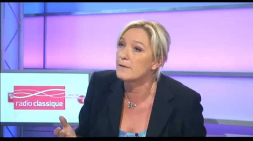 """Illustration pour la vidéo Marine Le Pen : """"l'UMP ne sert strictement à rien à part à se manger le nez"""""""