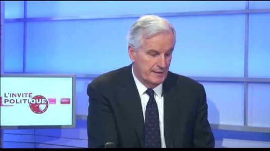 Illustration pour la vidéo L'invité politique : Michel Barnier, Commissaire européen au Marché intérieur et aux Services