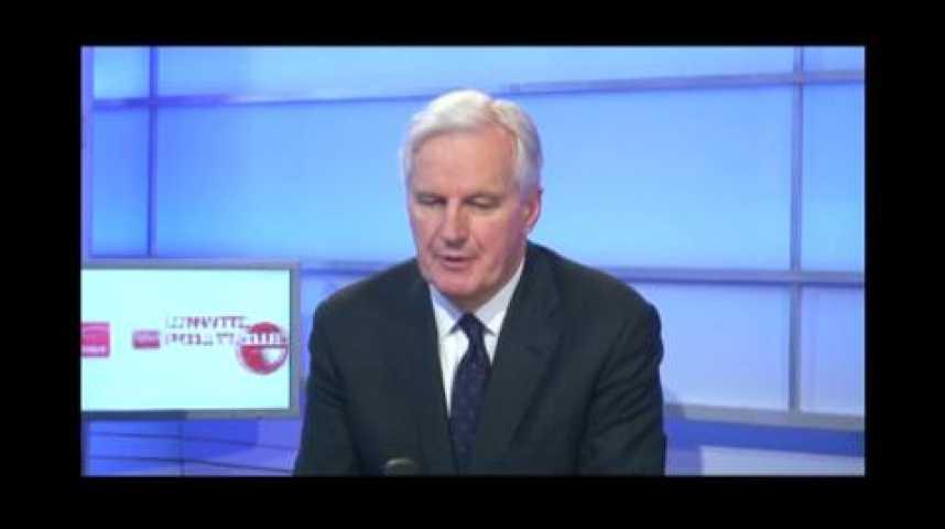 """Illustration pour la vidéo Michel Barnier : """"Ce ne sont pas Bruxelles ni l'euro qui ont provoqué les déficits de la France"""""""