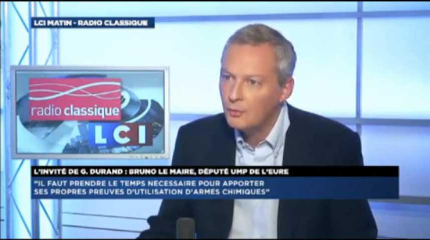 """Illustration pour la vidéo Bruno Le Maire : """"La France se retrouve dans une situation humiliante en donnant un blanc seing aux Etats-Unis"""""""