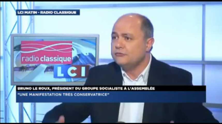 """Illustration pour la vidéo Bruno Le Roux :""""La gauche se battra toujours pour l'ouverture de nouveaux droits de notre pays"""""""